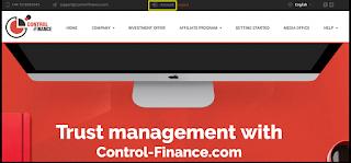 موقع control finance للإستثماري لربح المال من الأنترنت بدون أي مجهود