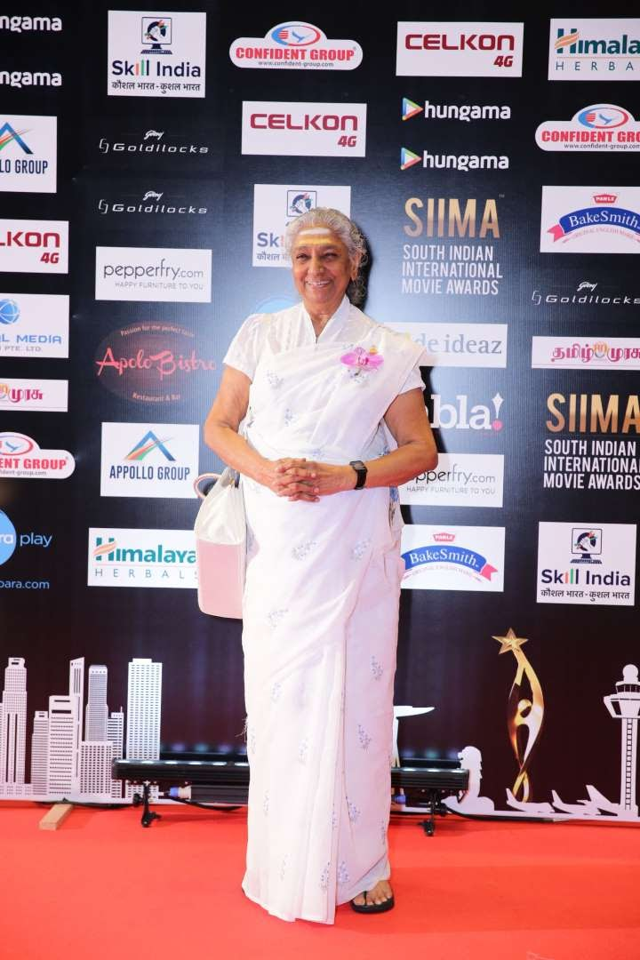 Singer S Janaki was honoured with the Lifetime Achievement Award