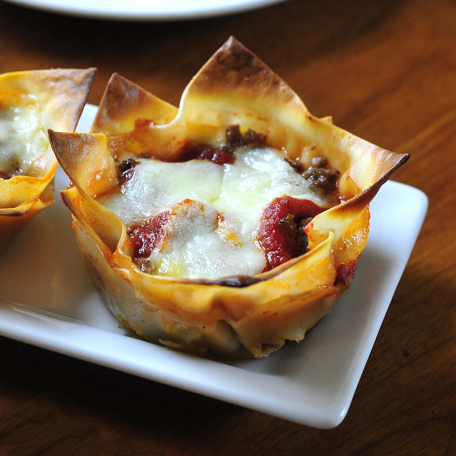 Simply Gourmet: Lasagna Cups