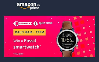 Amazon Fossil Smartwatch Quiz Time All Answers Image