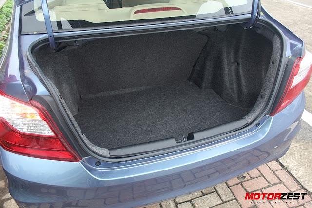 2016 Honda Amaze bootspace