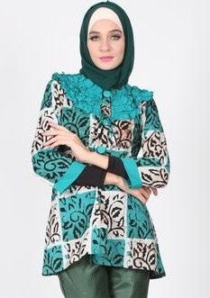 Model baju muslim batik modern terbaru