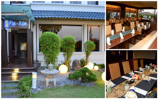 The Japenese-like decor and ambiance of Fu-Rin
