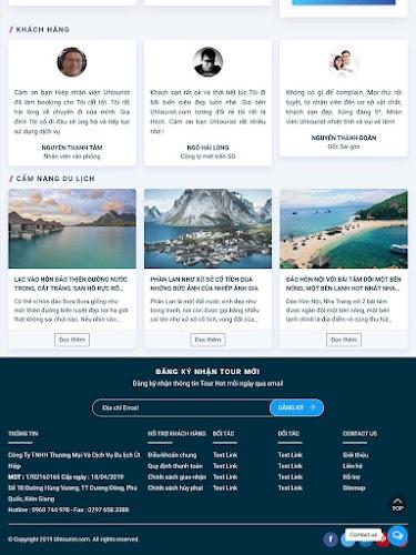 Giao diện đặt tour du lịch online đẹp mẫu số 2