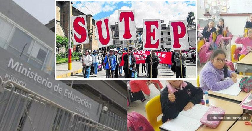 SUTEP pide al MINEDU postergar el inicio del año escolar 2018