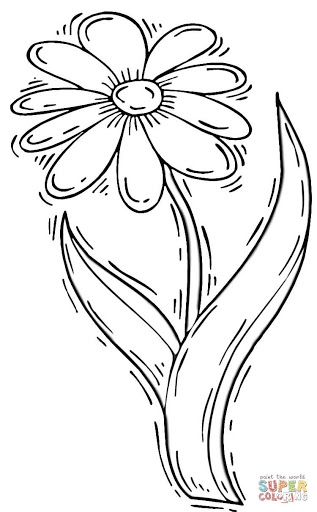 Best Free Daisy Coloring Pages Design