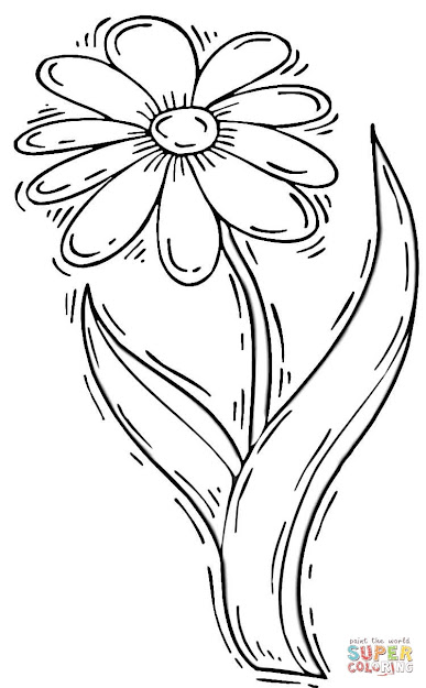 Click The Daisy Flower Coloring Pages To View Printable Version Or Color It  Online Patible With Ipad And Android Tablets