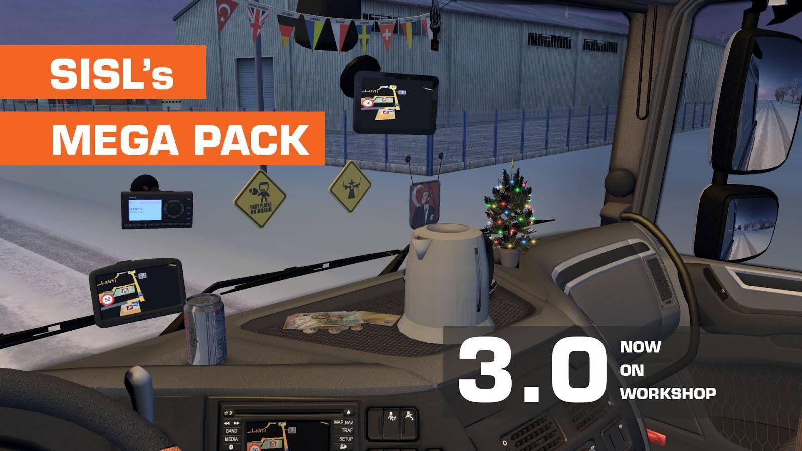 SiSL's Mega Pack v 3 0 - Euro Truck Simulator 2 Mod World