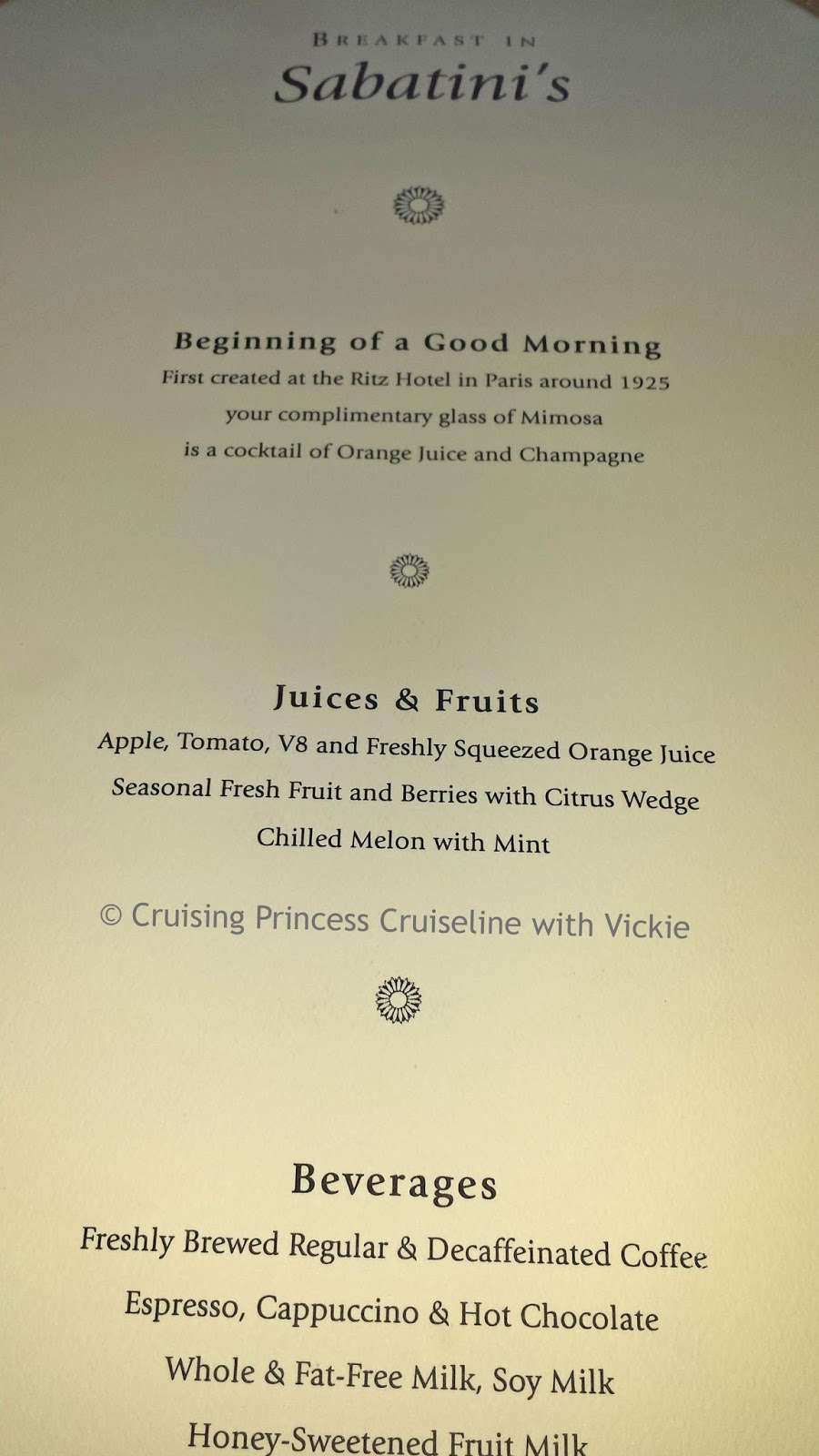 The Curtis Room Service Menu