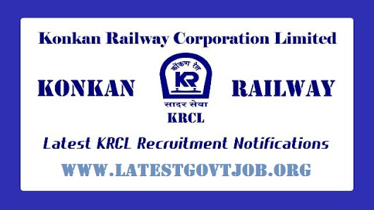 Latest Government Jobs: KRCL Recruitment (2018) - 100 Vacancies for Trackman and More @ www.konkanrailway.com