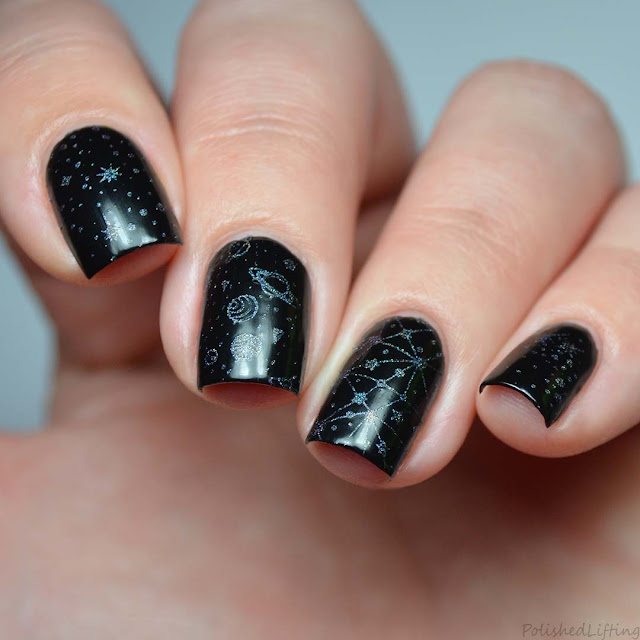 space themed nail art