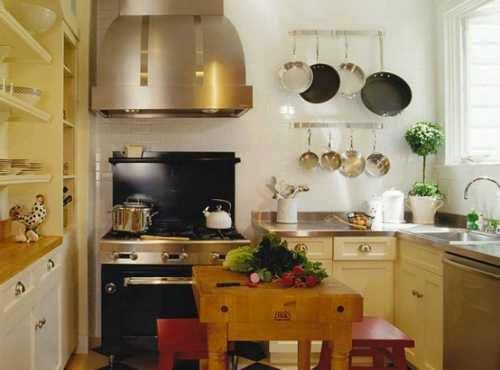 Contoh Desain dapur mungil dan meja makan keluarga