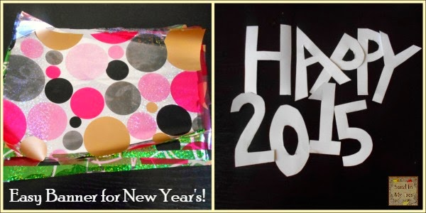 An easy banner for kids to make at New Year's