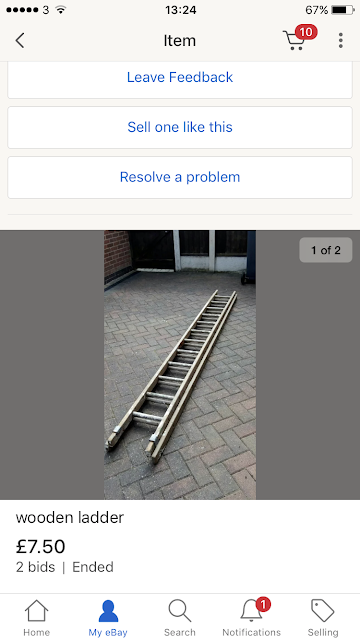 eBay wood ladders cheap