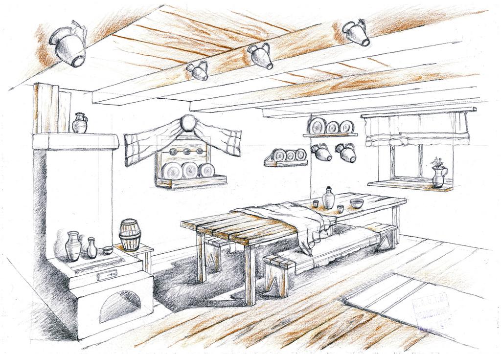 interior design hand drawings | Alexandra L Nicolaescu ...