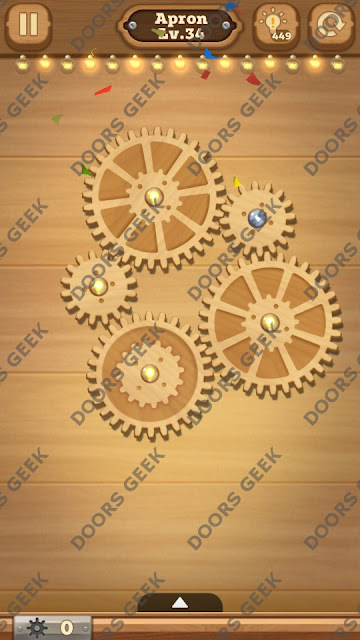 Fix it: Gear Puzzle [Apron] Level 34 Solution, Cheats, Walkthrough for Android, iPhone, iPad and iPod