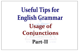 Useful Tips for English Grammar- Usage of Conjunctions