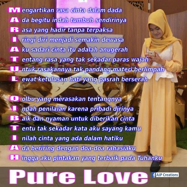 Mariatul Qibtiah - Tema : Pure Love