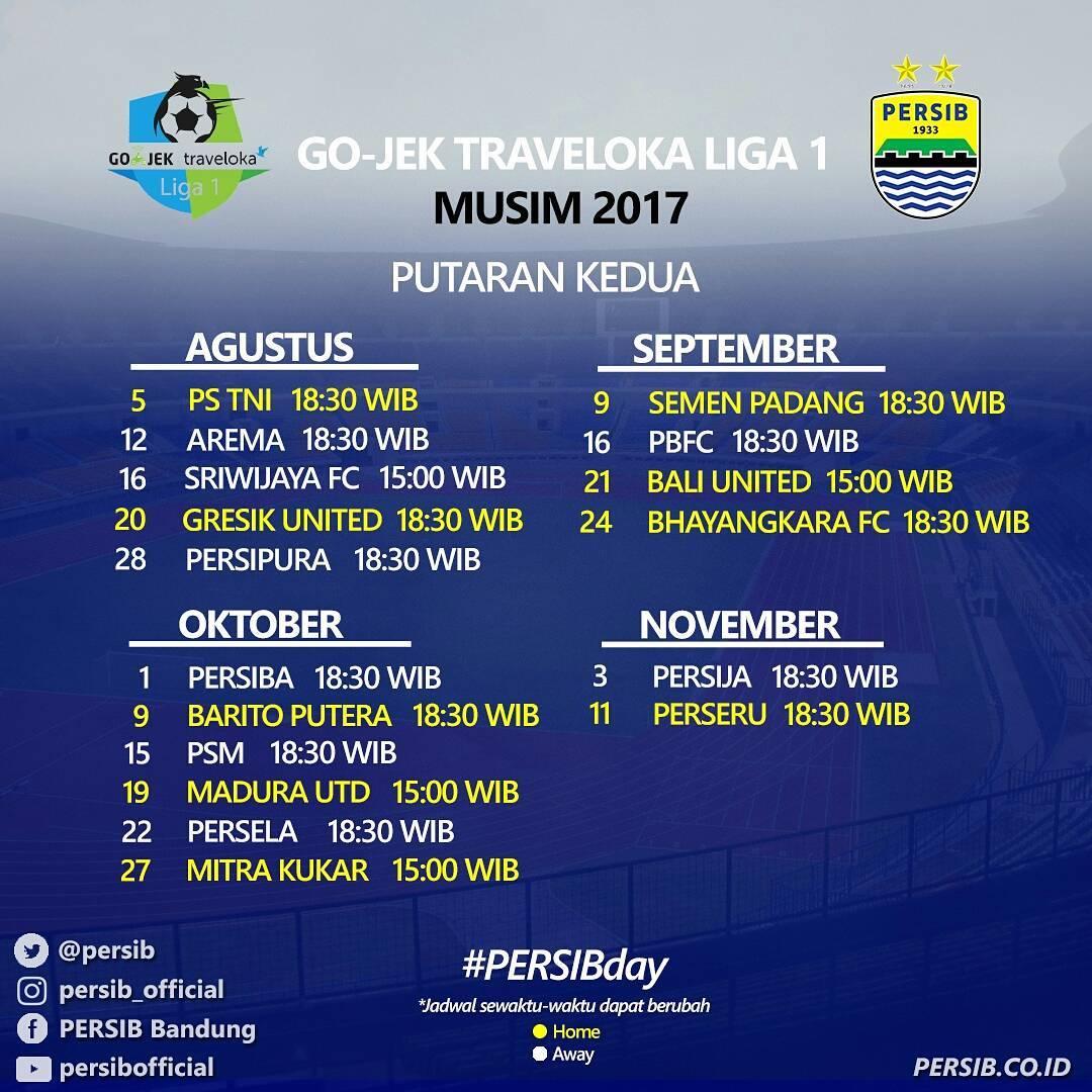 DK's Notes | danikustiawan.id: Jadwal Pertandingan Persib ...