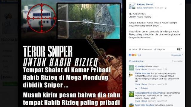 Heboh! Beredar Kabar Kamar Habib Rizieq Ditembak Sniper, Ini Kata Polisi