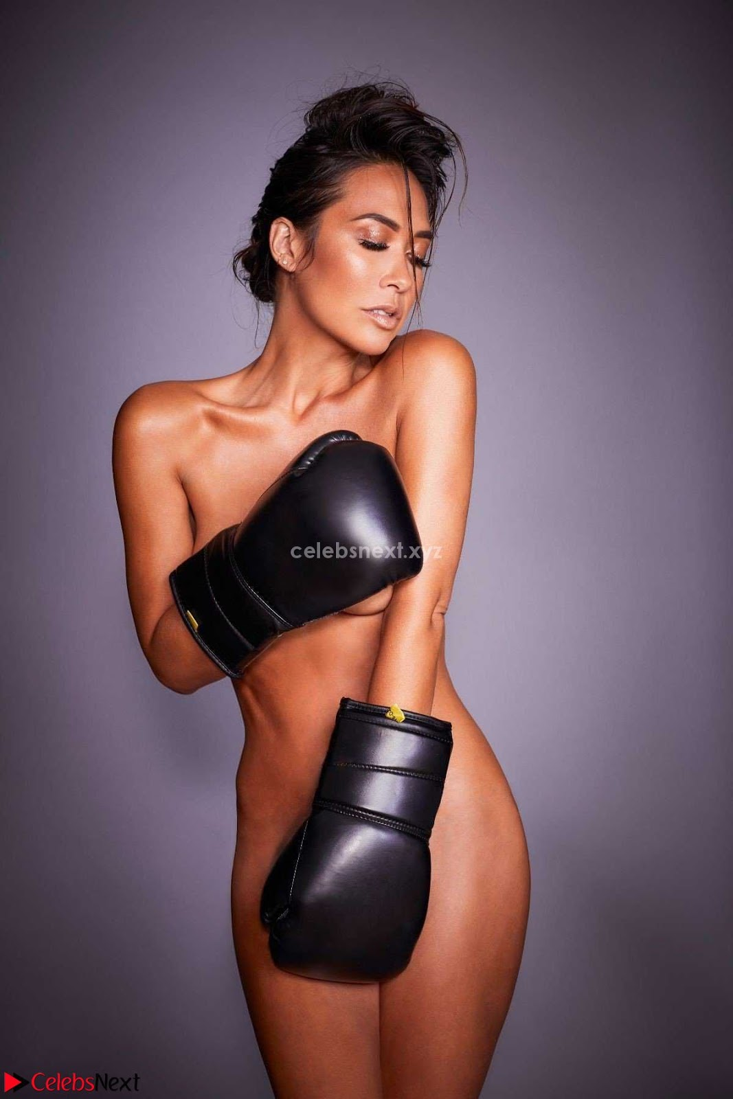 Myleene Klass Nude Beautiful Boobs and Pussy Covered with Boxing Gloves WOW