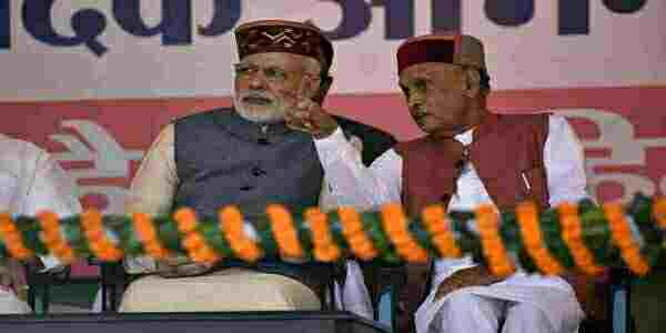 Prem-kumar-dhumal-with-pm-modi