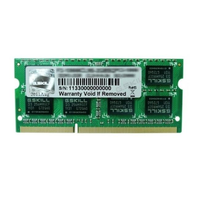 Bộ nhớ laptop DDR3 G.Skill 4GB (1333) F3-10666CL9S-4GBSQ