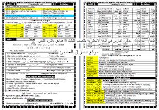 حمل أول مذكره فى اللغة الانجليزية , للصف الثالث الاعدادي ،الترم الثانى مستر هشام أبو بكر