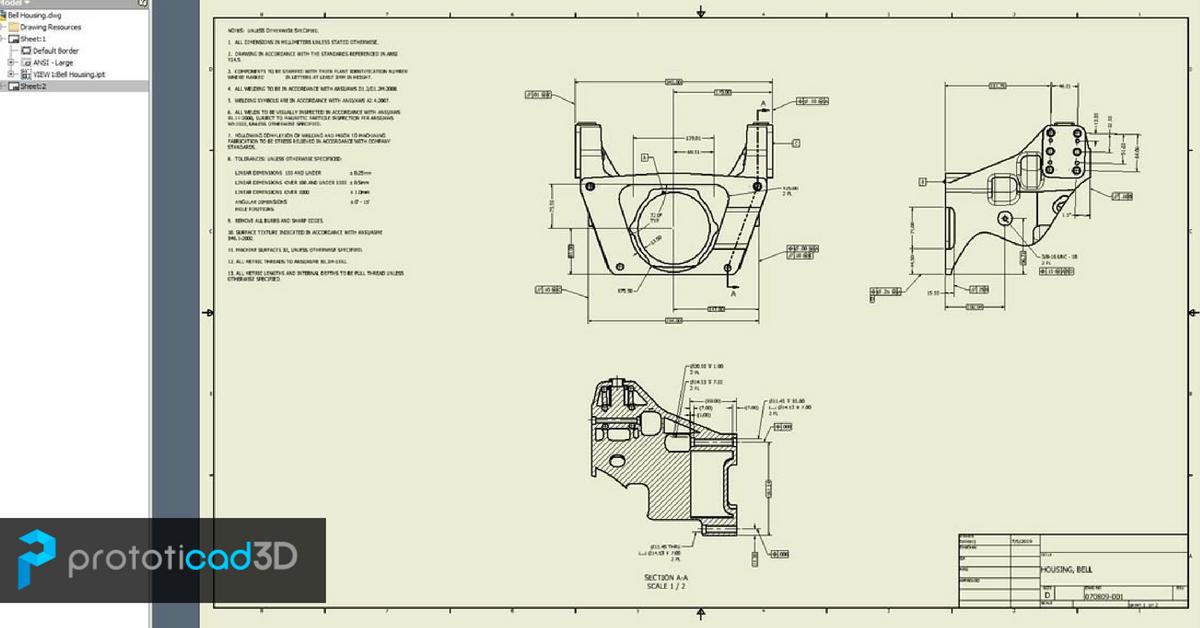 Modificar un modelo 3D de Inventor desde la hoja de dibujo