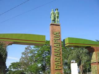 Portal da cidade de Paranapuá