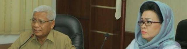 Wakil Bupati Asahan Surya saat menerima kunjungan anggota DPRDSU.