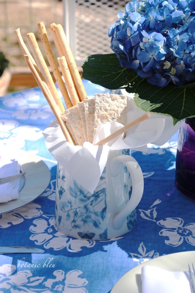 blue-hydrangeas-centerpiece-blue-white-pitcher-spring-garden-party