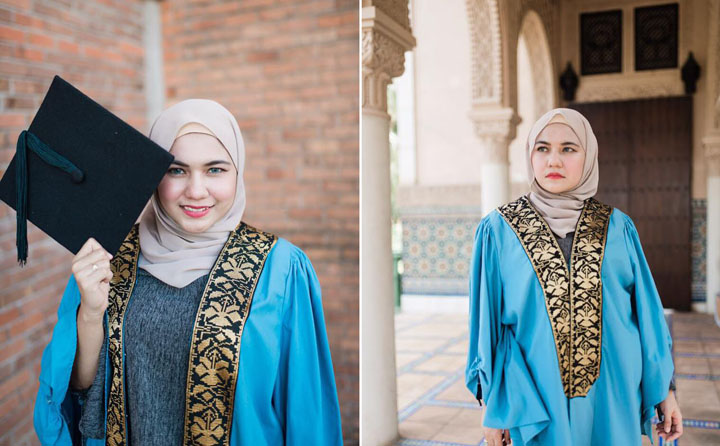 Gambar Nur Azwani Saimi, pengasas tudung Momoiroscarves