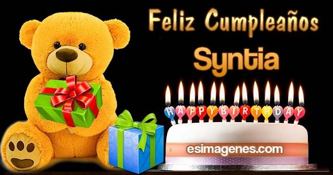 Feliz Cumpleaños Syntia