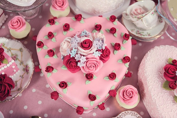 Heart Shaped cath kidston inspired cakes