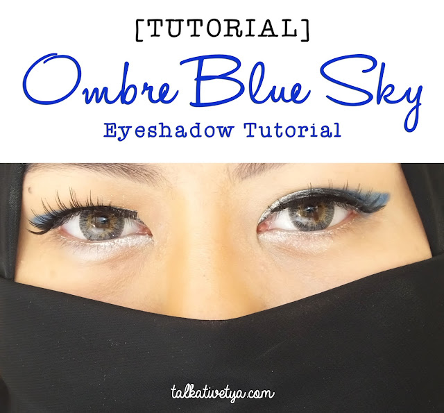 tutorial ombre blue sky eyeshadow featuring Revlon Colorstay