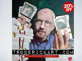 20% off Coupon Code YOUEARNEDIT troderickart.com