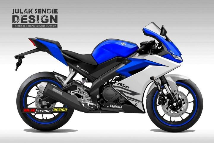 Begini bentuk renderan Yamaha R15 V3 2017 ala Julak Sendie, kental akan aura R1 sob !