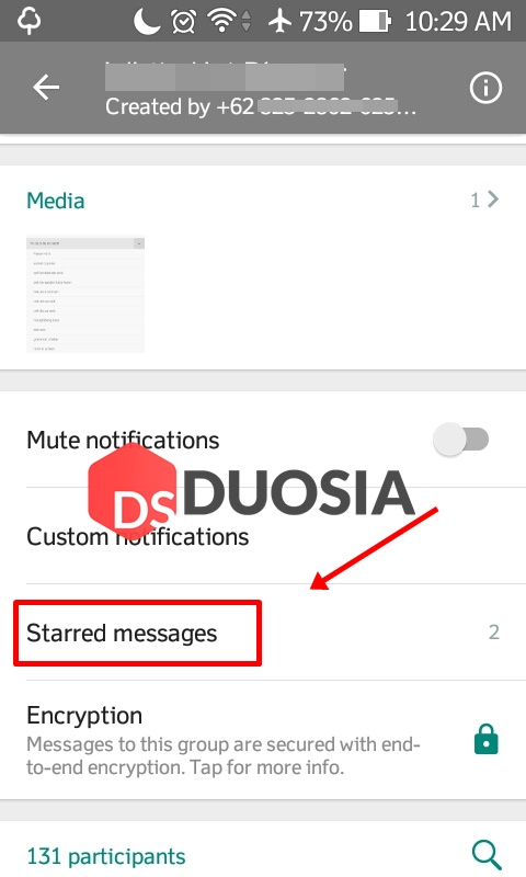 fungsi starred messages di whatsapp