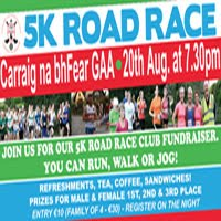 5k N of Cork City - Tues 20th Aug 2019