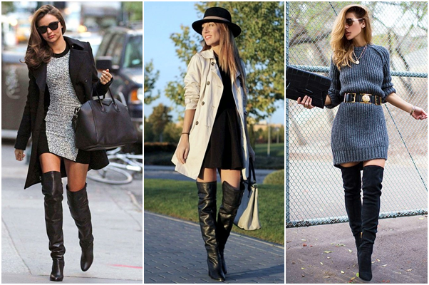 Como Usar Bota Over The Knee Vestido
