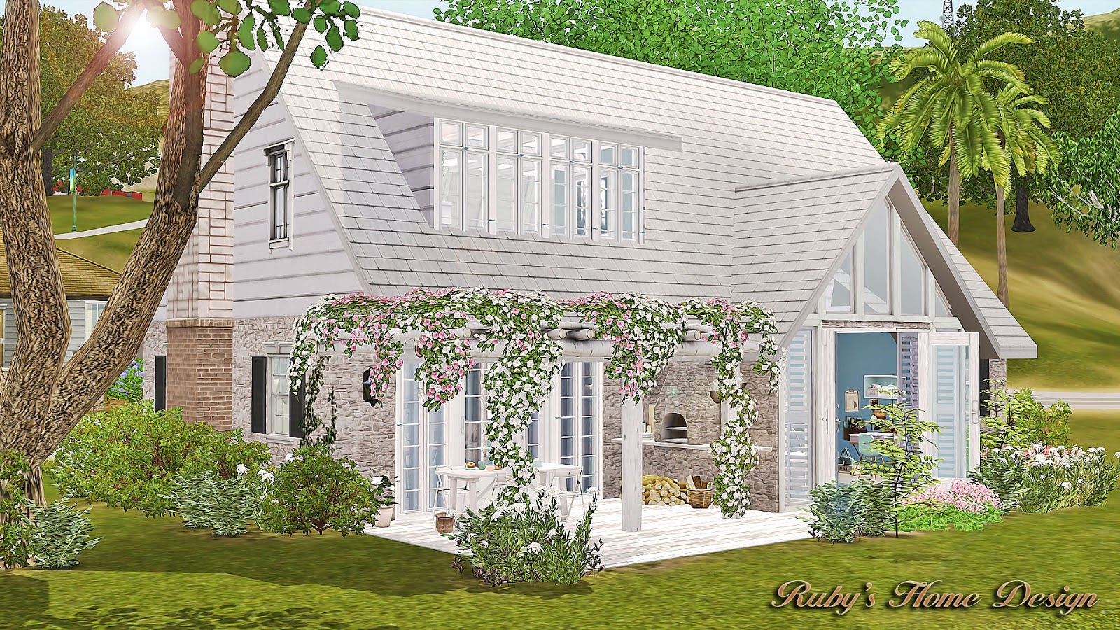 Sims3 minty house ruby 39 s home design for Classic house sims 3