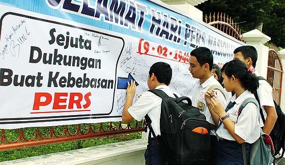 Kebebasan Pers di Indonesia Peringkat 138 Dunia