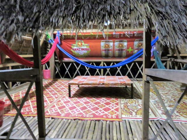Restaurant in a thatched cottage in Siem Reap Cambodia
