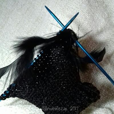 Tricotando el vestido de Caty Blythe para nochevieja 2017