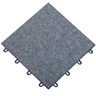 Greatmats snap together carpet tiles basement floor