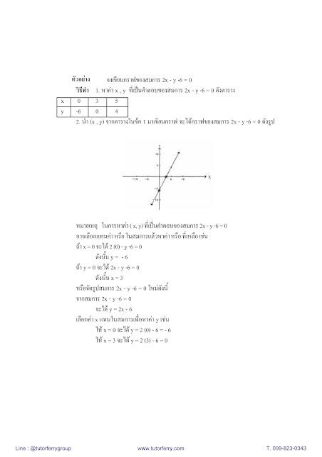 สรุปคณิตศาสตร์ ม.3 เทอม1 เรื่องระบบสมการเชิงเส้น