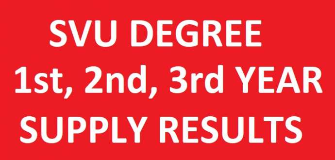SVU Degree 1st 2nd 3rd Year Supply Results manabadi