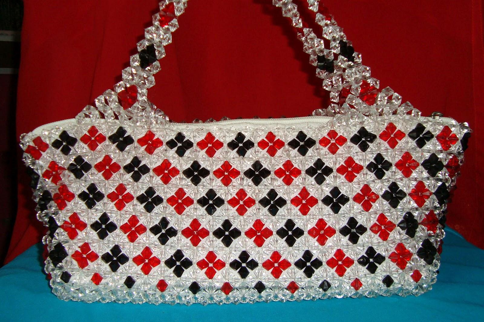 how to make beaded handbags