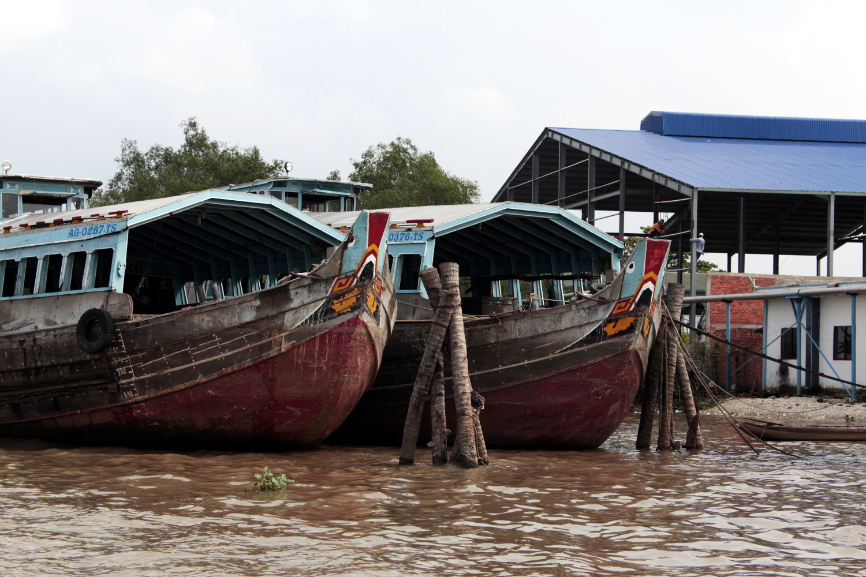 Barcos de los mercados del delta del Mekong